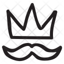 King Mustache Crown Icon