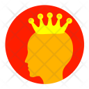Crown King Gold Icon