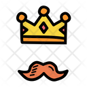 Crown Father Moustache Icon