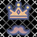 Crown Father Moustache Icon