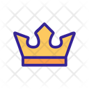 Crown Contour King Icon