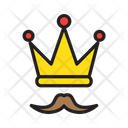 King Dad Best Dad Mustache Icon