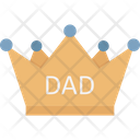 Best Dad Dad Crown Fathers Day Icon