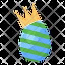 Easter Egg Eggshell King Egg Icon