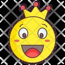 King Emoji King Expression Emotag Icon