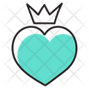 King Heart Queen Heart Heart Design Icon
