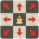 King Moves Game Chess Icon