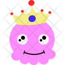 King Pink Cartoon Icon