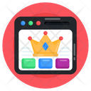 Web Ranking Quality Web King Website Icon