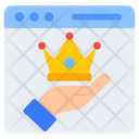 King Website Crown Website Webpage Icon