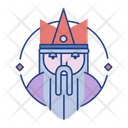 Kingfairy Tale Folklore Icon