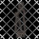 Kinhin monk Icon