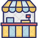 Kiosk Food Stand Booth Icon
