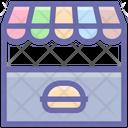 Kiosk Food Market Market Icon