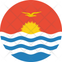 Kiribati Flag World Icon