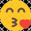 Blowing Kiss Emoji Icon