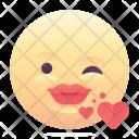 Wink Kiss Emoji Icon