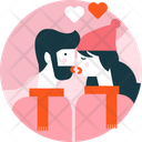 Valentine Kiss Love Icon