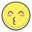 Kiss Blushing Face Icon