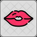 Valentine Day Lips Kiss Icon