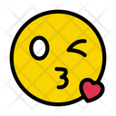 Kiss Love Winking Icon