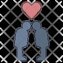 Couple Honeymoon Kiss Icon