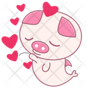 Heart Fish Pumpkin Icon