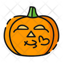 Kiss Pumpkin Halloween Icon
