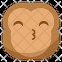 Kiss Monkey Emoji Icon