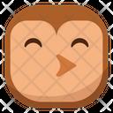 Kiss Owl Icon
