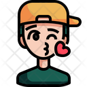 Kiss Love Emoji Icon