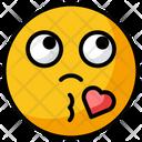 Blow Kiss Heart Kiss Smiley Icon