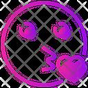 Valentine Day Emoji Kiss Icon