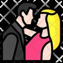 Kiss Wedding Couple Love Icon