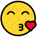 Kiss Heart Love Icon