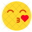 Kiss With Heart Icon