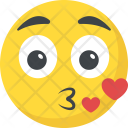Kiss Emoji Romantic Icon