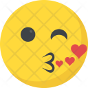 Kissing Romantic Feeling Icon