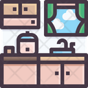Kitchen Kitchen Platform Kitchen Interior Icon