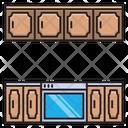 Drawer Cabinet Kitchen Icon