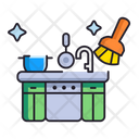 Kitchen Cleaning Icon