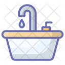 Kitchen Sink Kitchen Washbasin Dishwashing Sink Icon