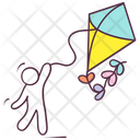 Kite Flying Kite Outdoor Activity Icon
