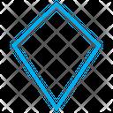 Geometrical Kite Shape Icon