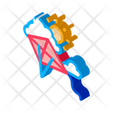 Kite Flying Sunny Icon