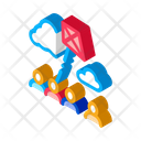 Kite Flying Crowded Icon