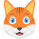 Kitten Face Orange Icon