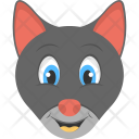 Black Kitten Face Icon