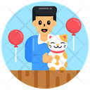 Pet Party Kitten Party Cat Party Icon