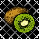 Kiwi Edible Chinese Gooseberry Icon